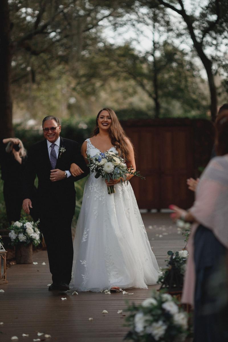Bride's walk down the aisle