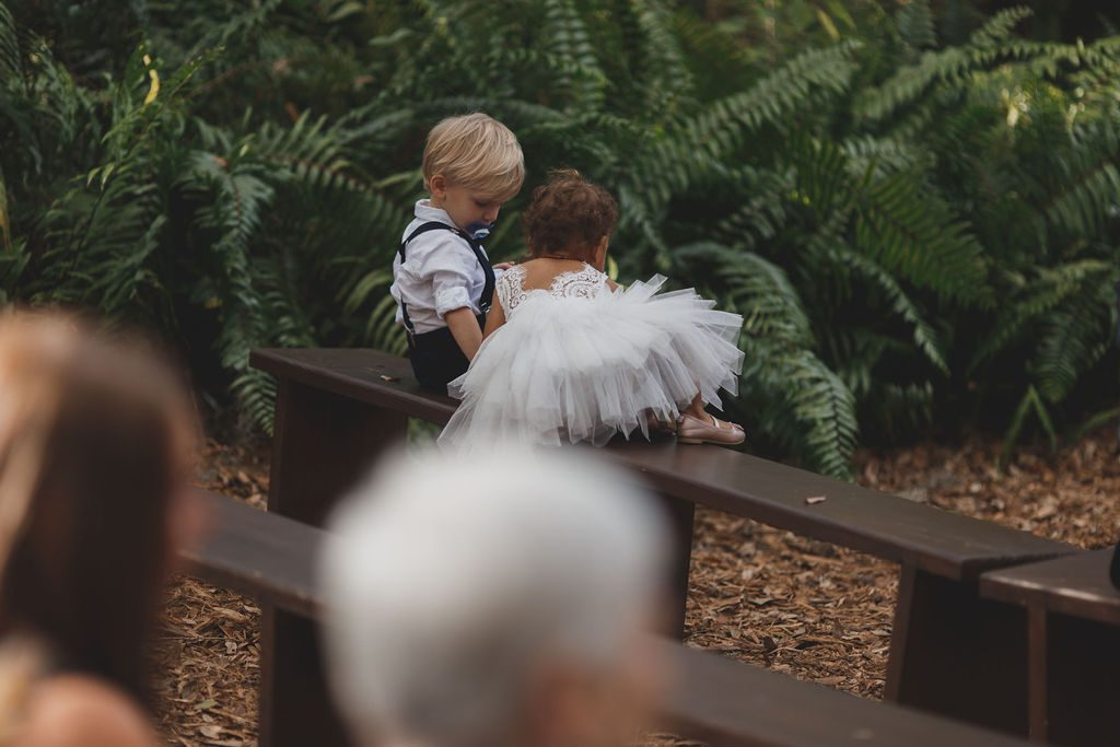 The ring bearer and flower girl were so adorable!
