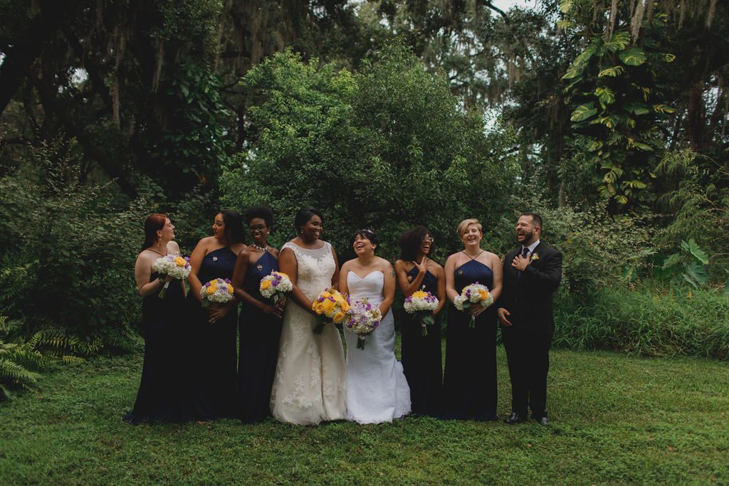 Tori and Lindsay and their wedding party