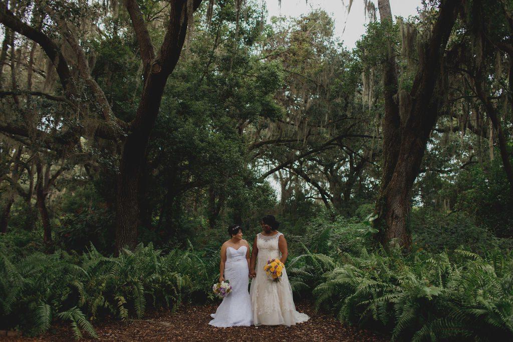 Tori and Lindsay on their wedding day