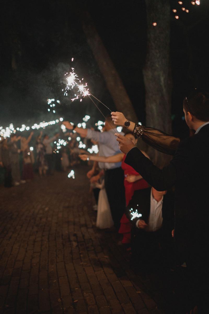 Wedding sparker exit