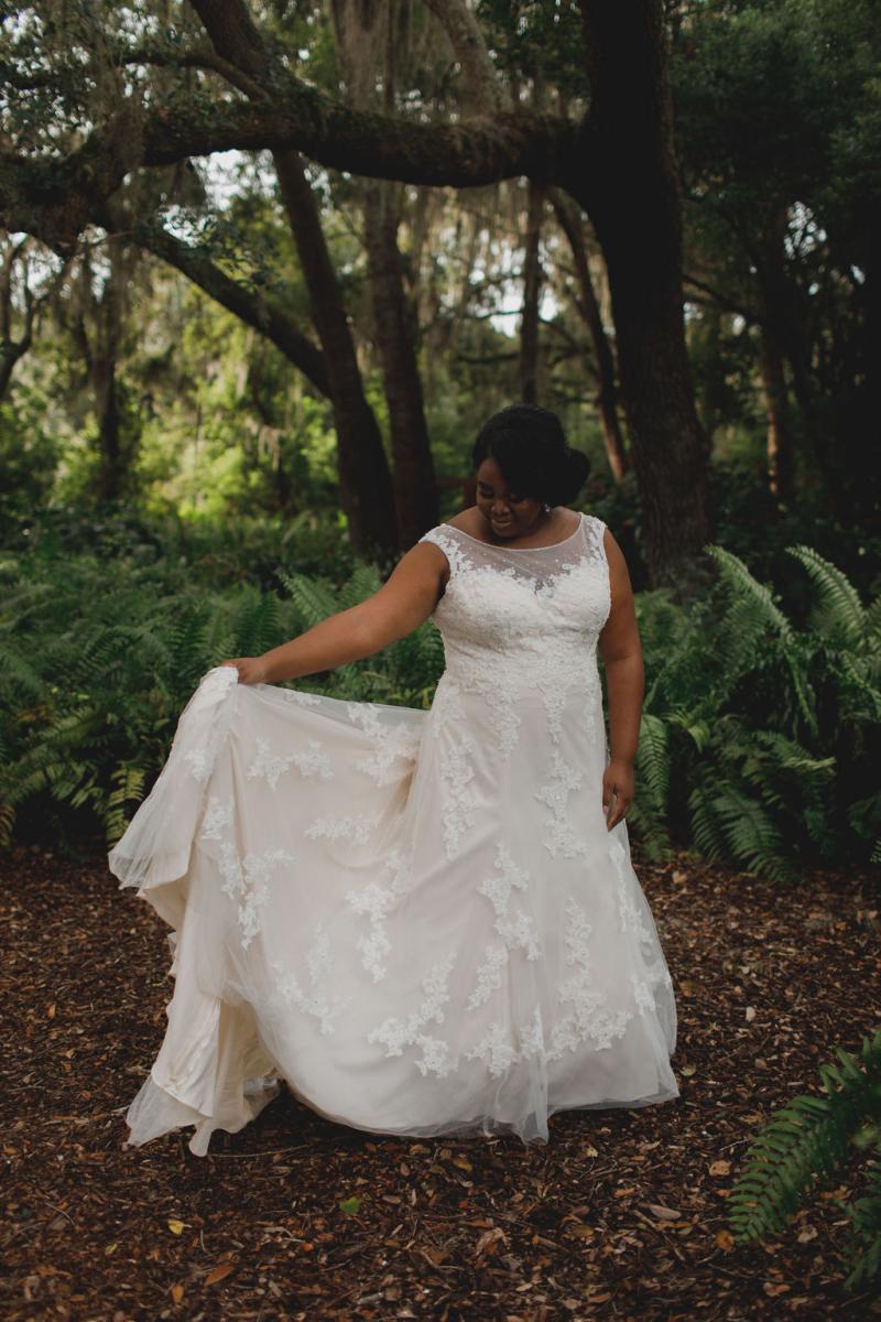 Tori in her wedding dress