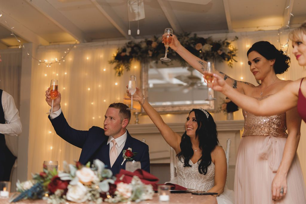 Wedding toasts at the French Country Inn