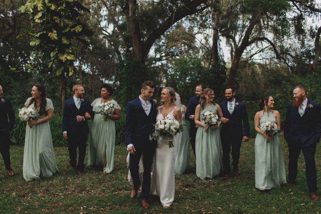 Megan and Nathaniel's wedding party