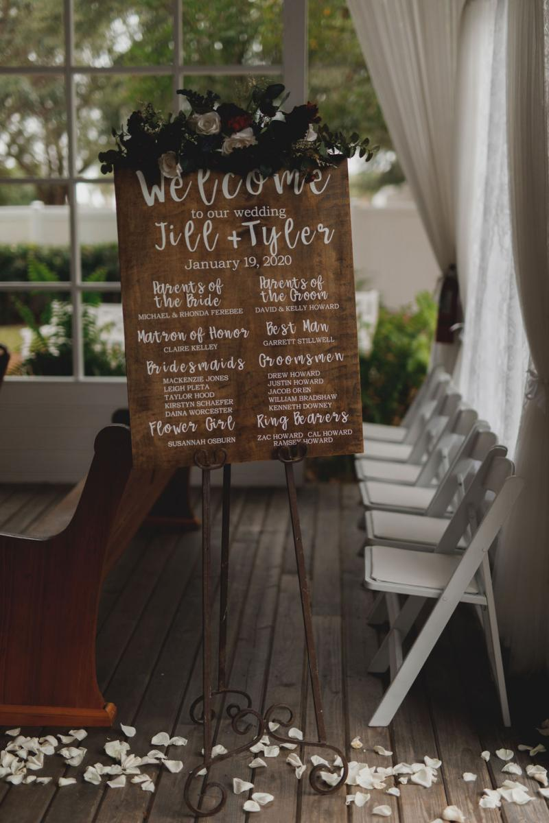 Wedding ceremony signs