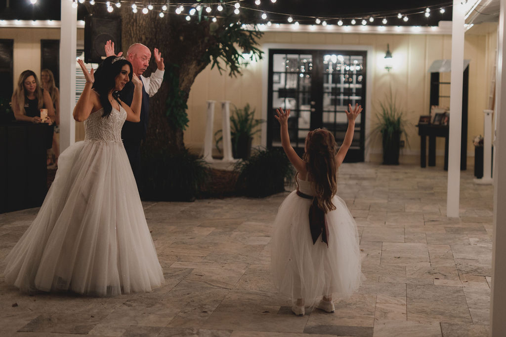 Special dance between the bride, her father and the bride's daughter