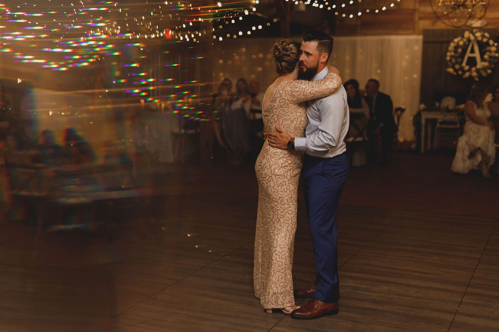 Mother son dance at the Carriage House Stable