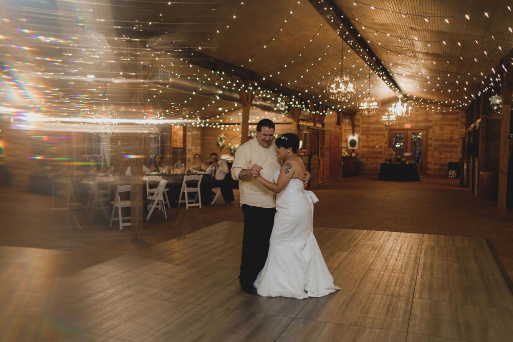 Lindsay and her father's first dance