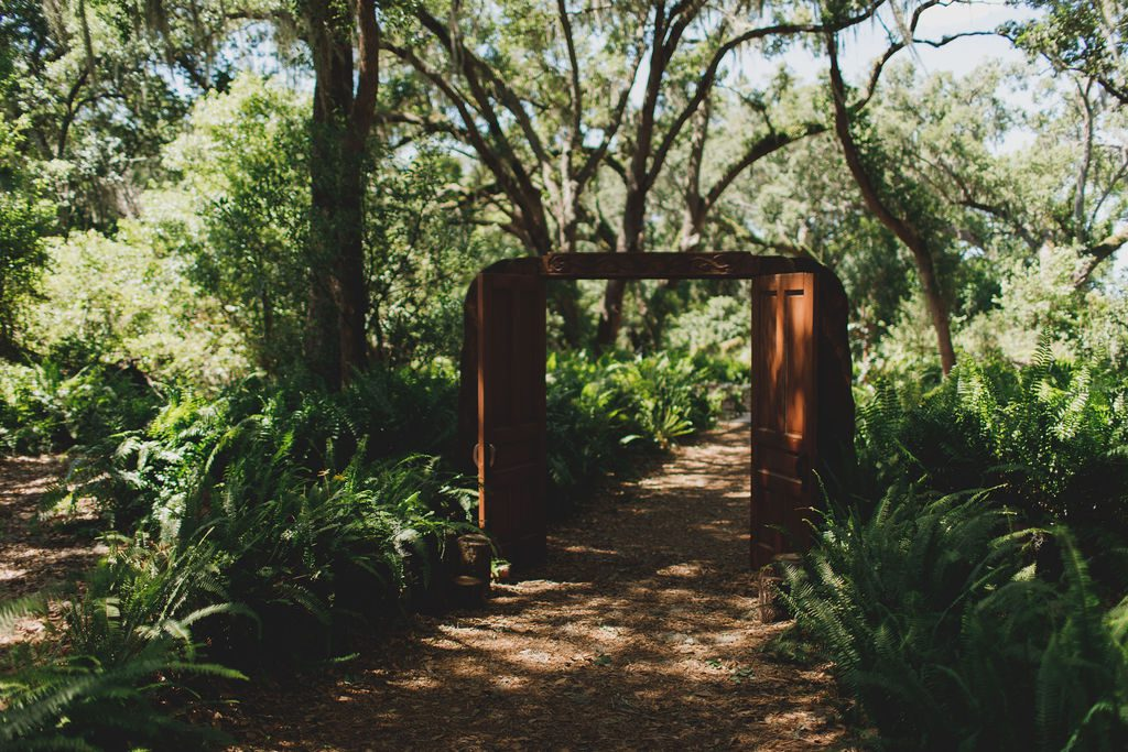 The doors to the Enchanted Forest