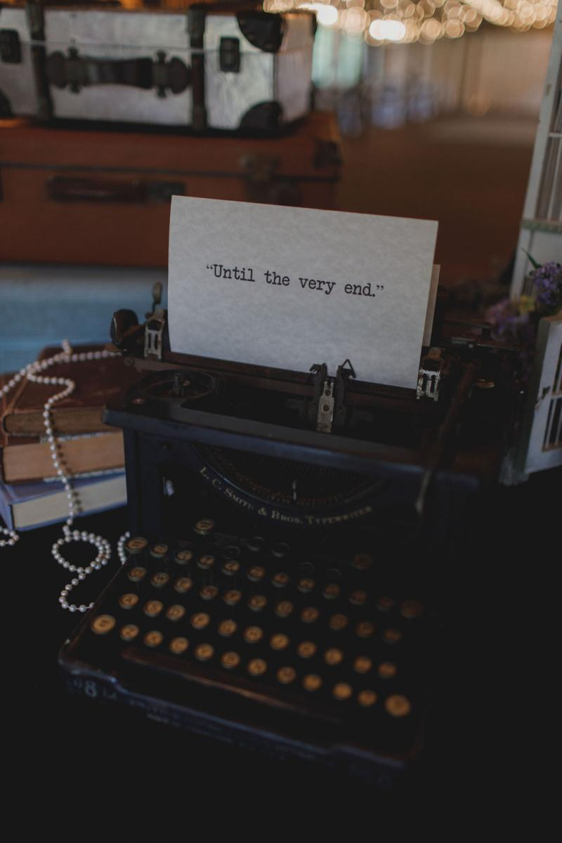 Vintage type writer