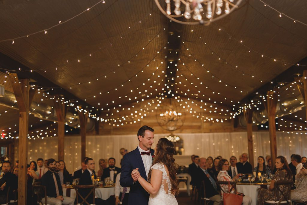 First dance inside the barn