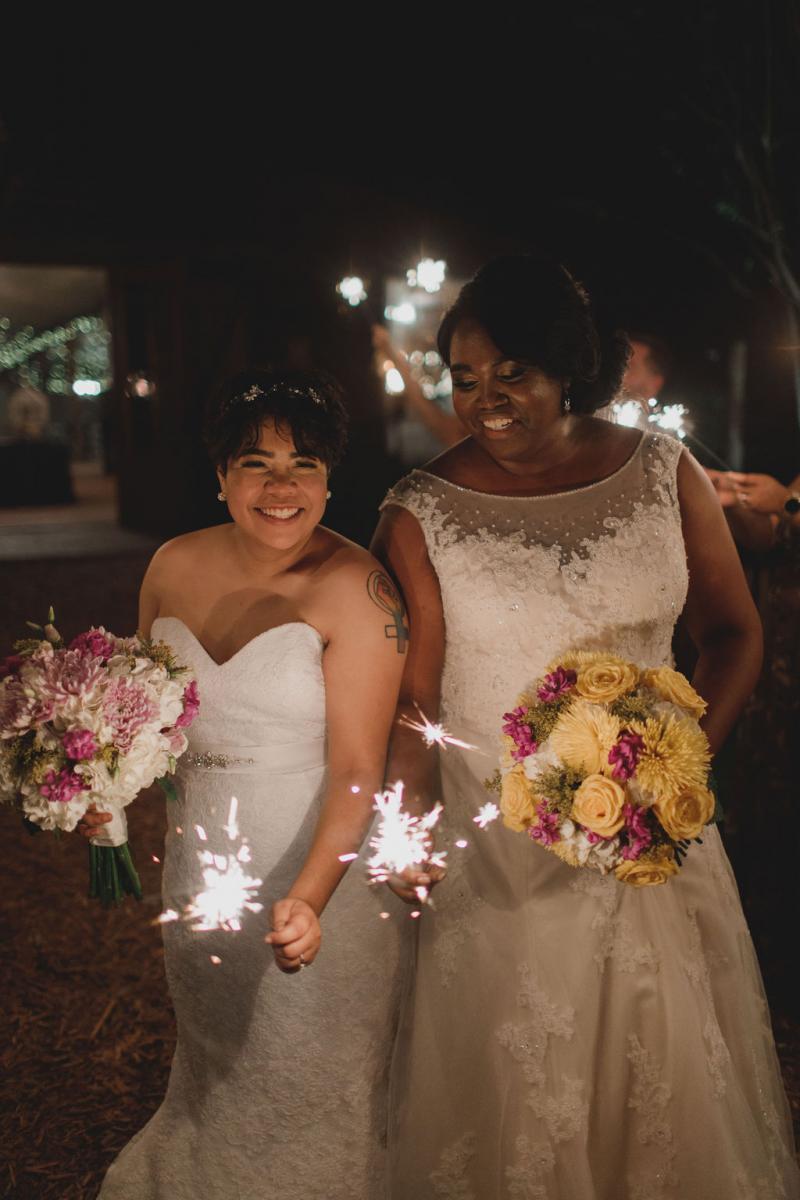 Tori and Lindsay's sparkler exit
