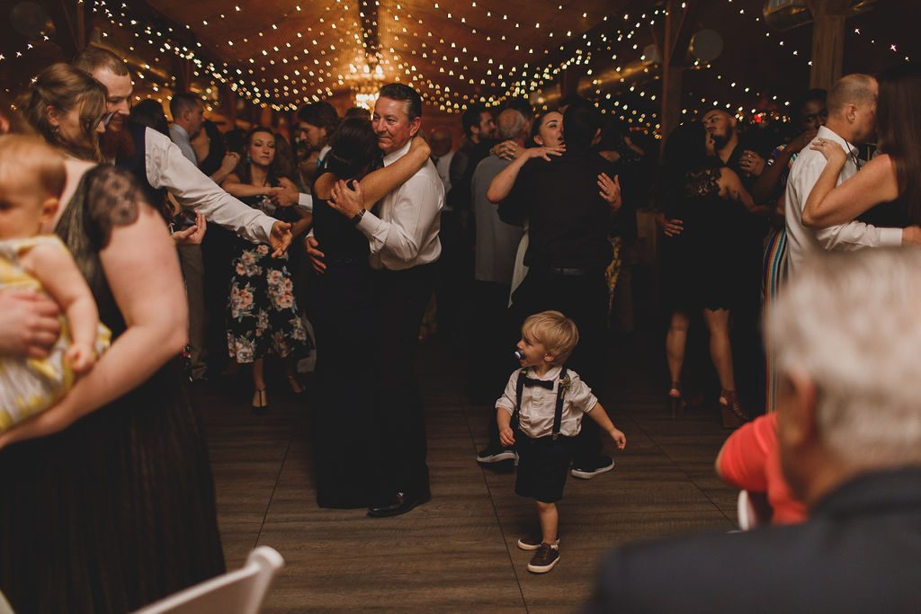 A packed dancefloor filled with Megan and Nathaniel's loved ones