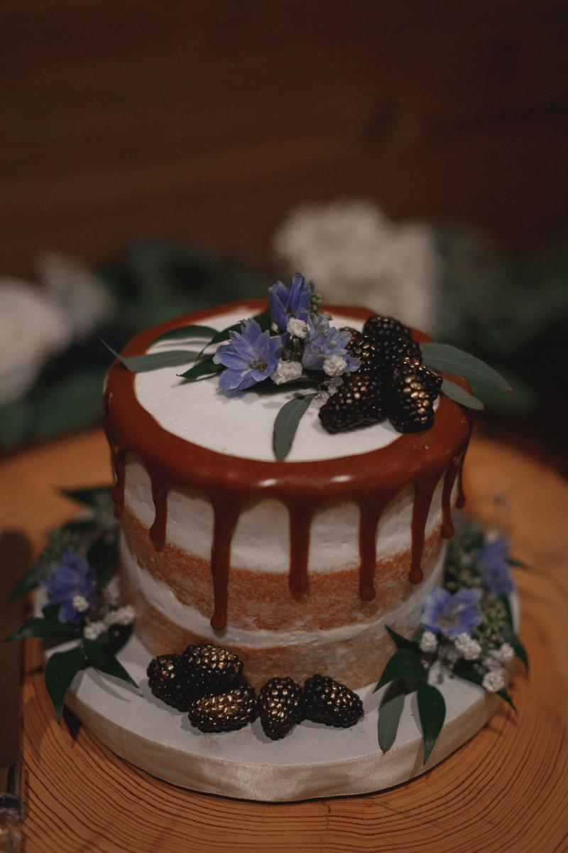 Fruit inspired wedding cake