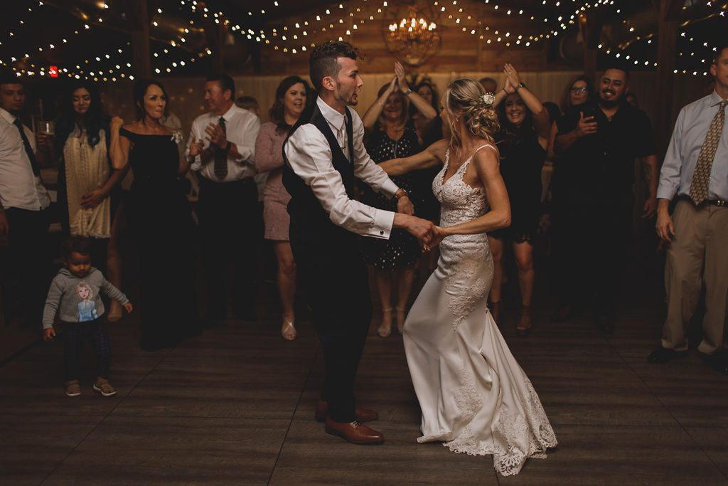 Dancing the night away underneath our twinkle lights at the Carriage House Stable