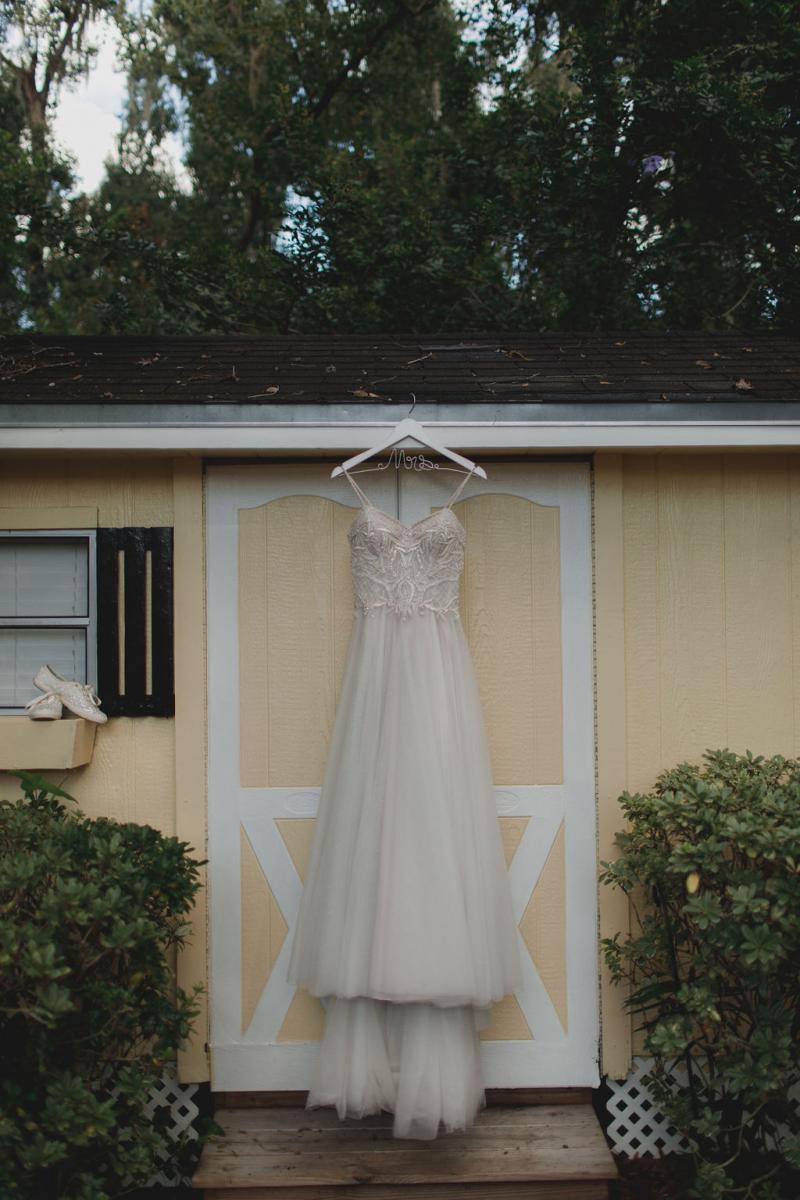 Jennifer's Justin Alexander wedding dress
