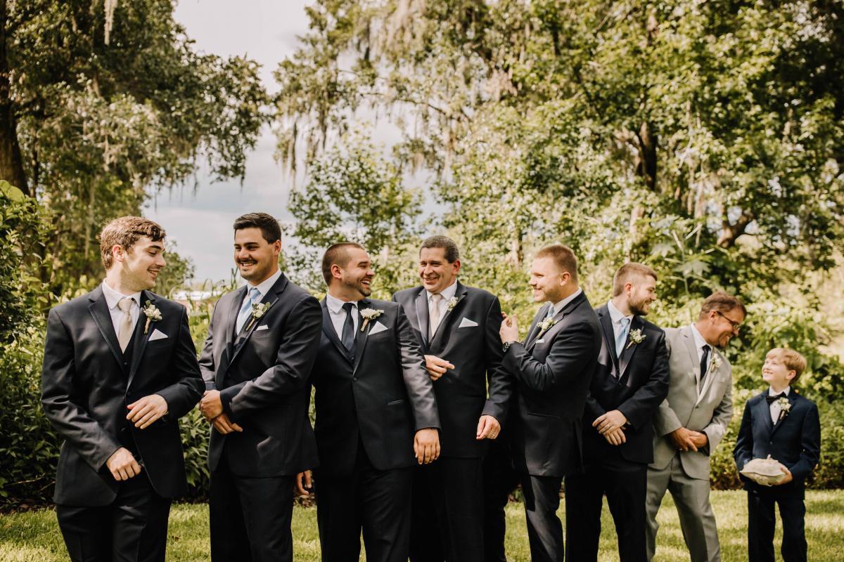 Chris and him groomsmen