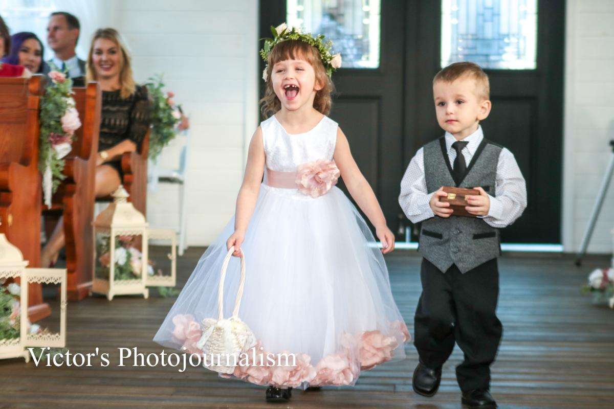 Jenna and Jeremy's ring bearer and flower girl