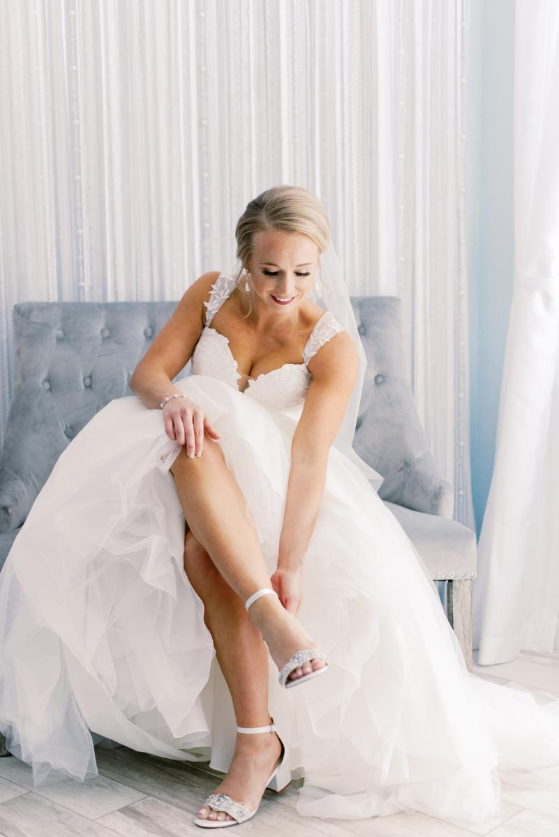 Mikaela getting ready for her wedding