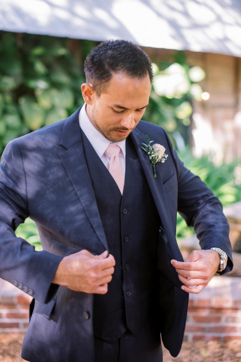 AJ getting ready for his wedding