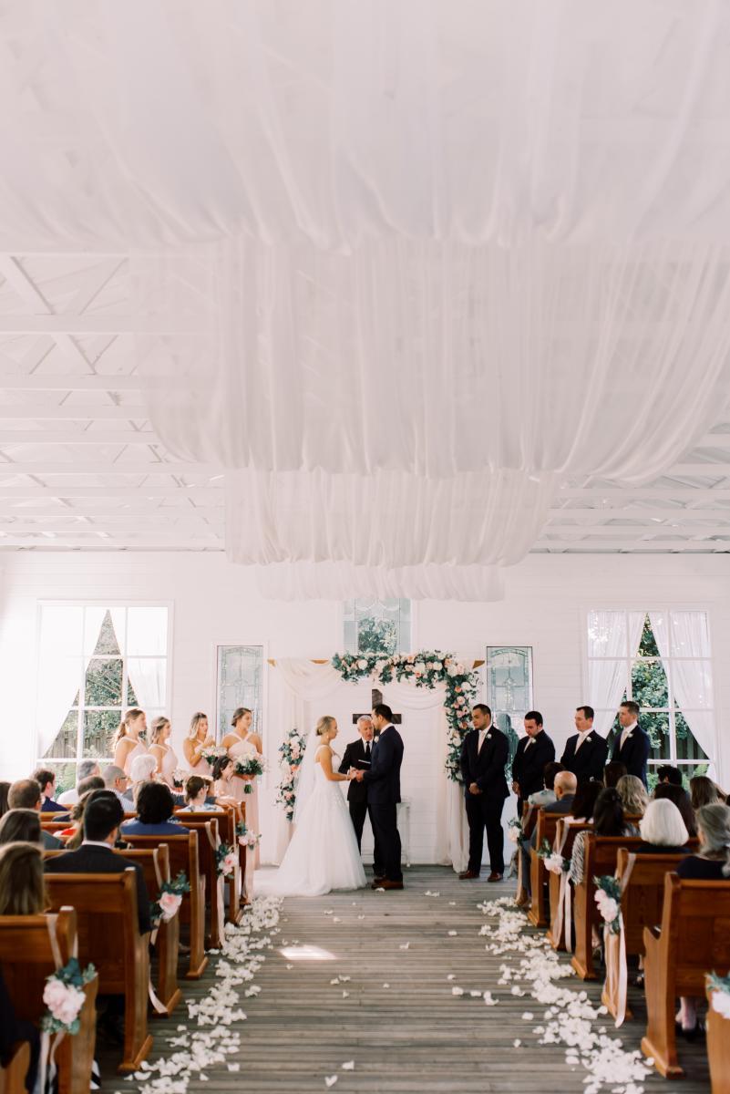 Ultra romantic wedding Chapel ceremony