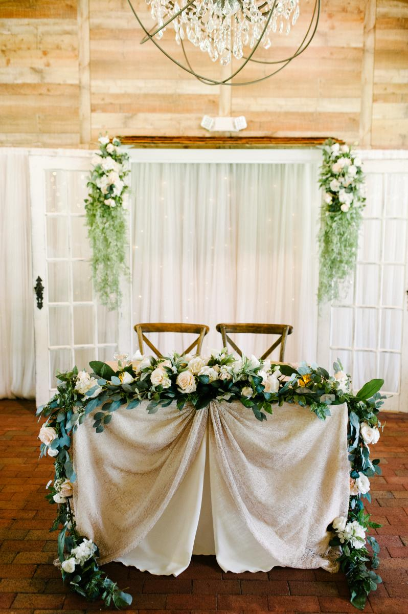 Krista and Ricky's sweetheart table