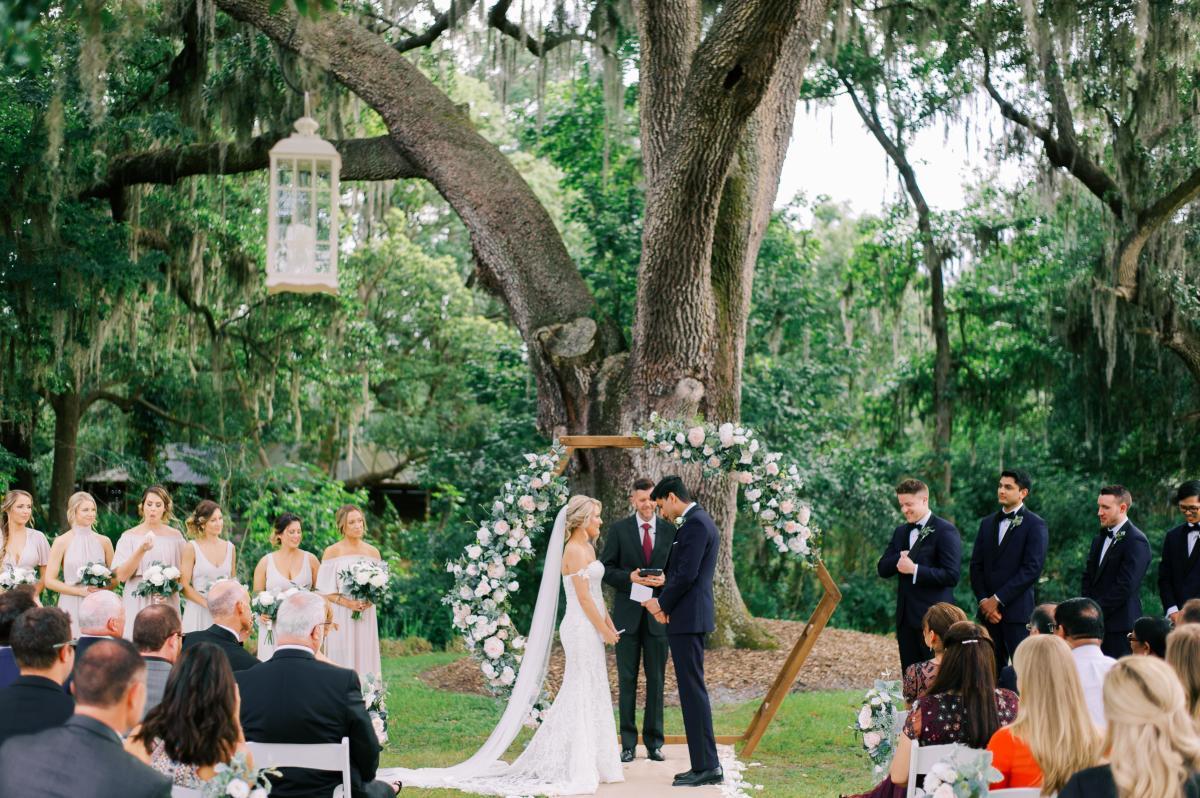 Krista and Ricky's modern Florida ranch wedding