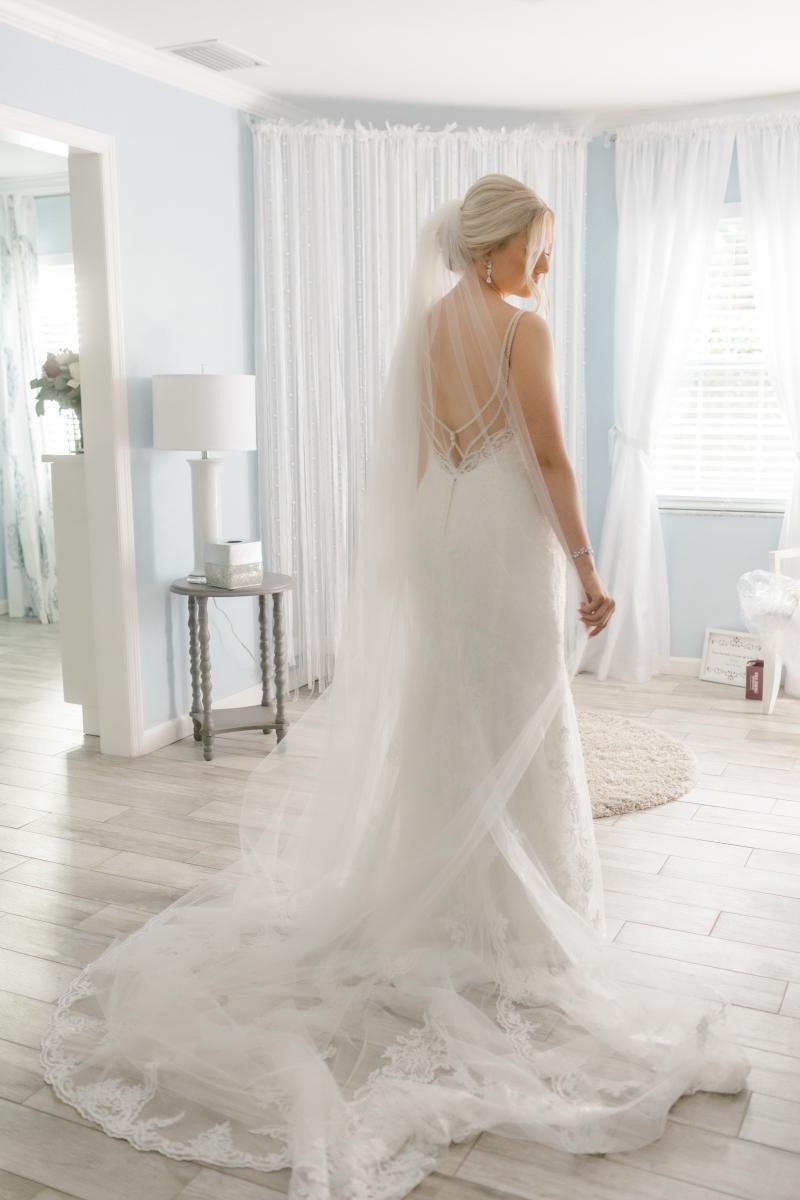 Katie's Stella York mermaid wedding dress