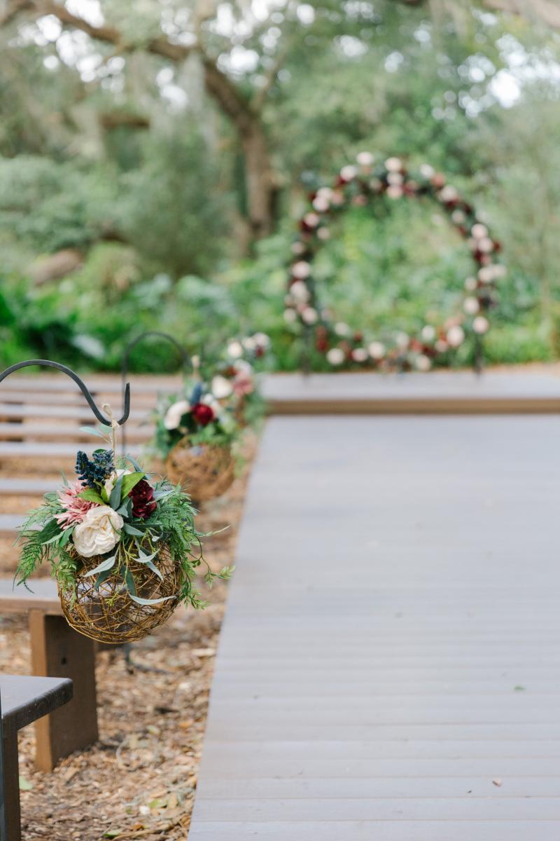 Rustic and classy wedding ceremony decor