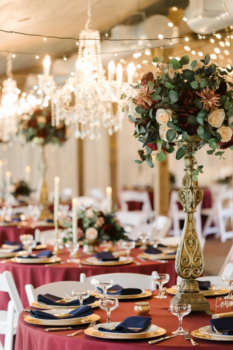 Classic and Elegant wedding reception centerpiece