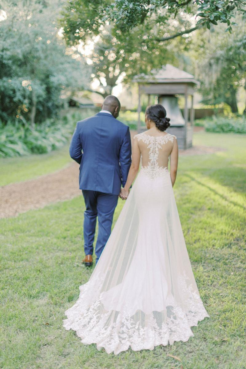 The back of KC's dress was stunning