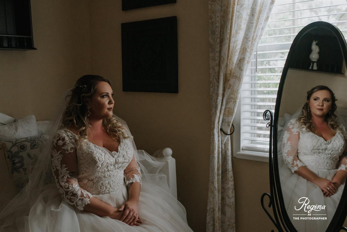 Kalee on her wedding day
