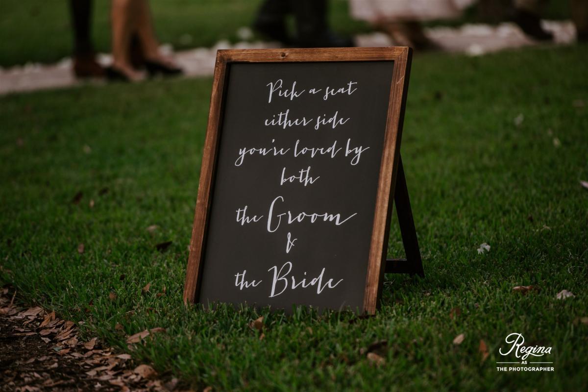 Kalee and Jacob's wedding signs