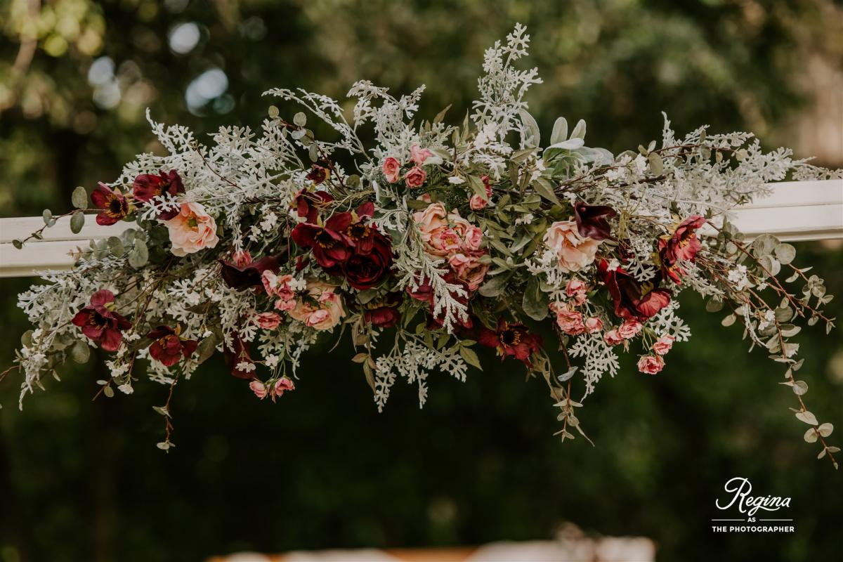 Floral sprays arranged by CCR floral team