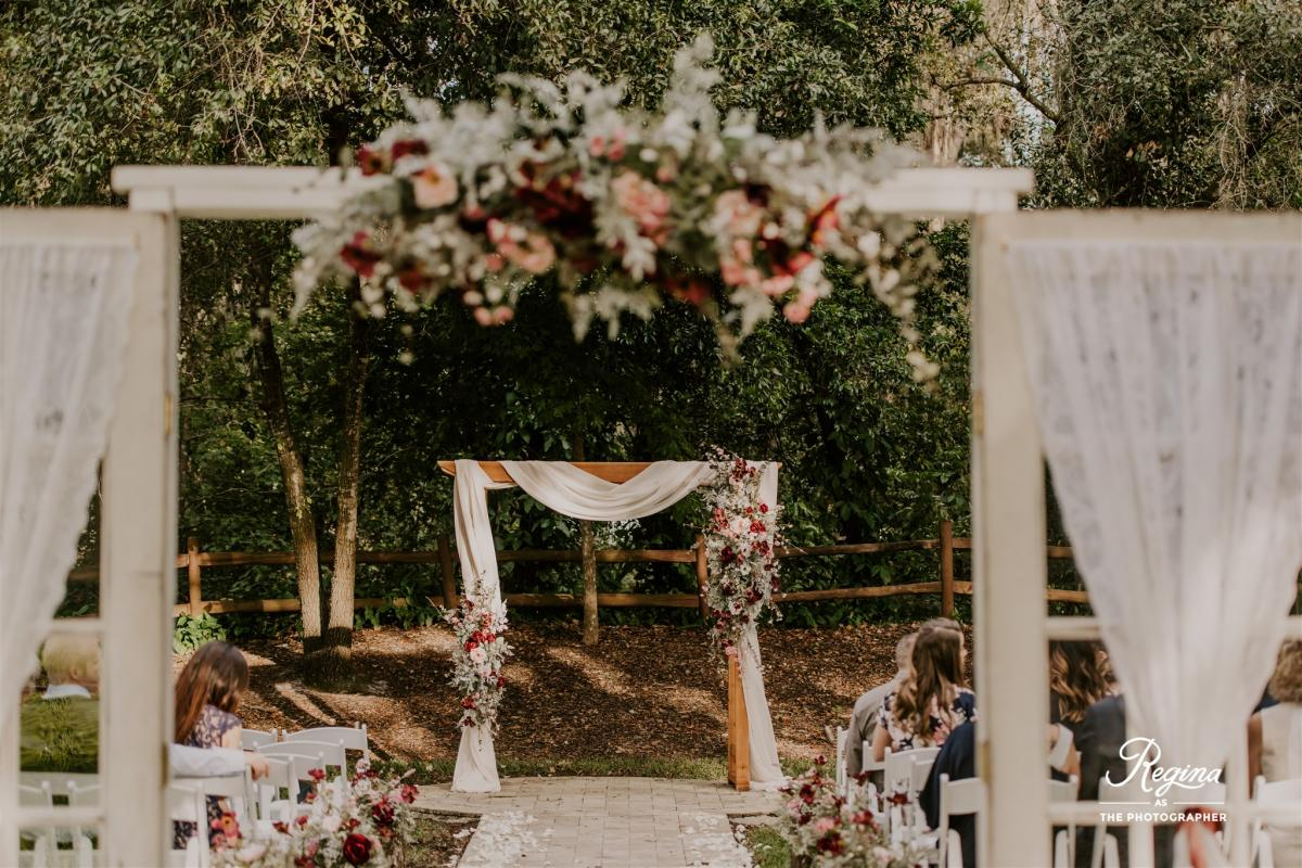 Kalee and Jacob's ceremony decor and design