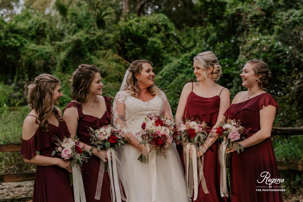 Kalee with her bridesmaids