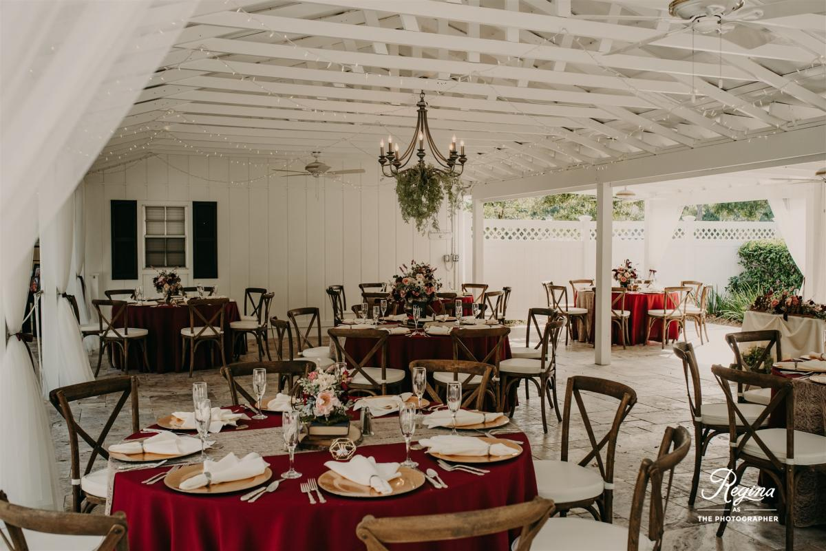 Kalee and Jacob's French Country Inn reception design and decor