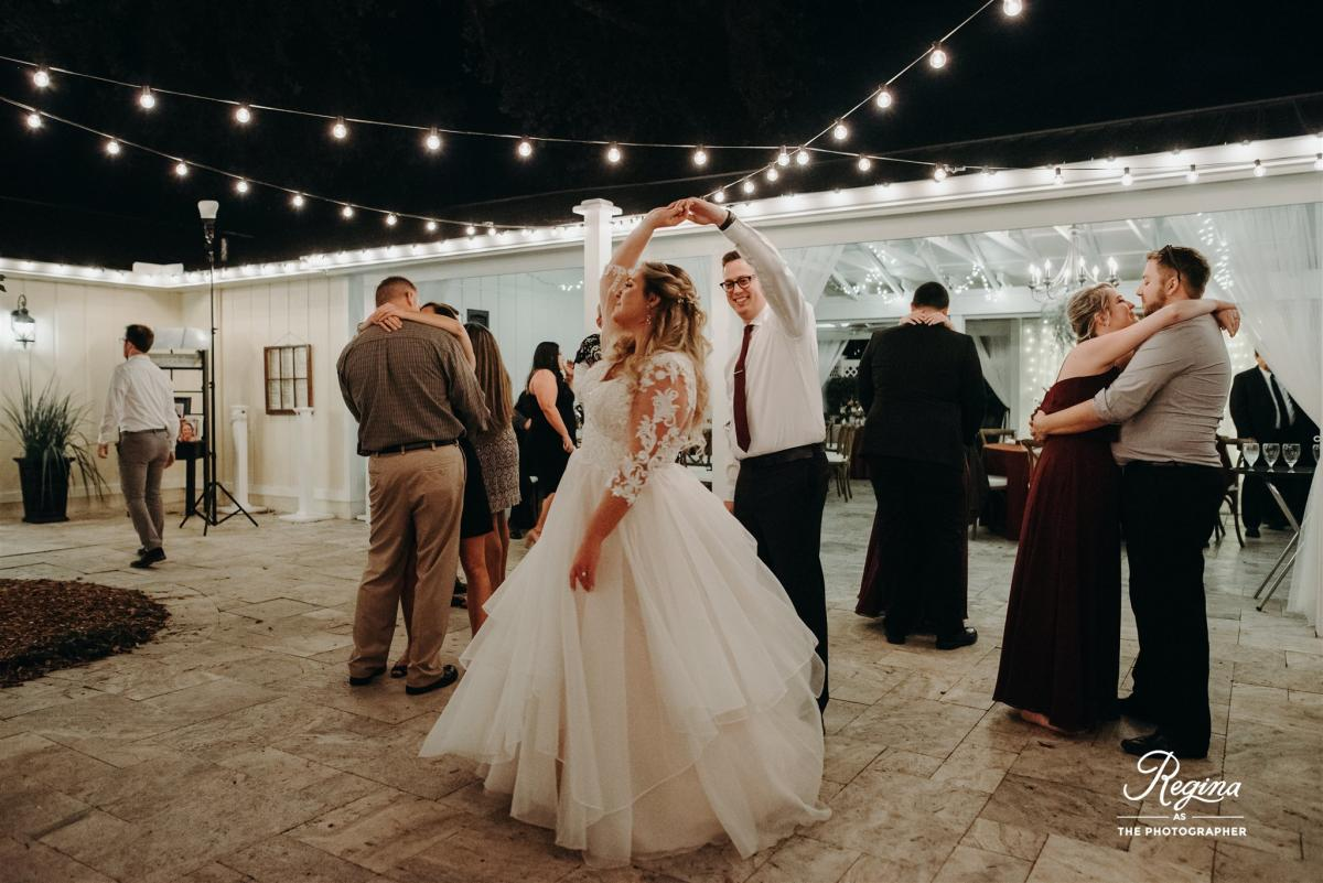 Kalee and Jacob dancing during their reception