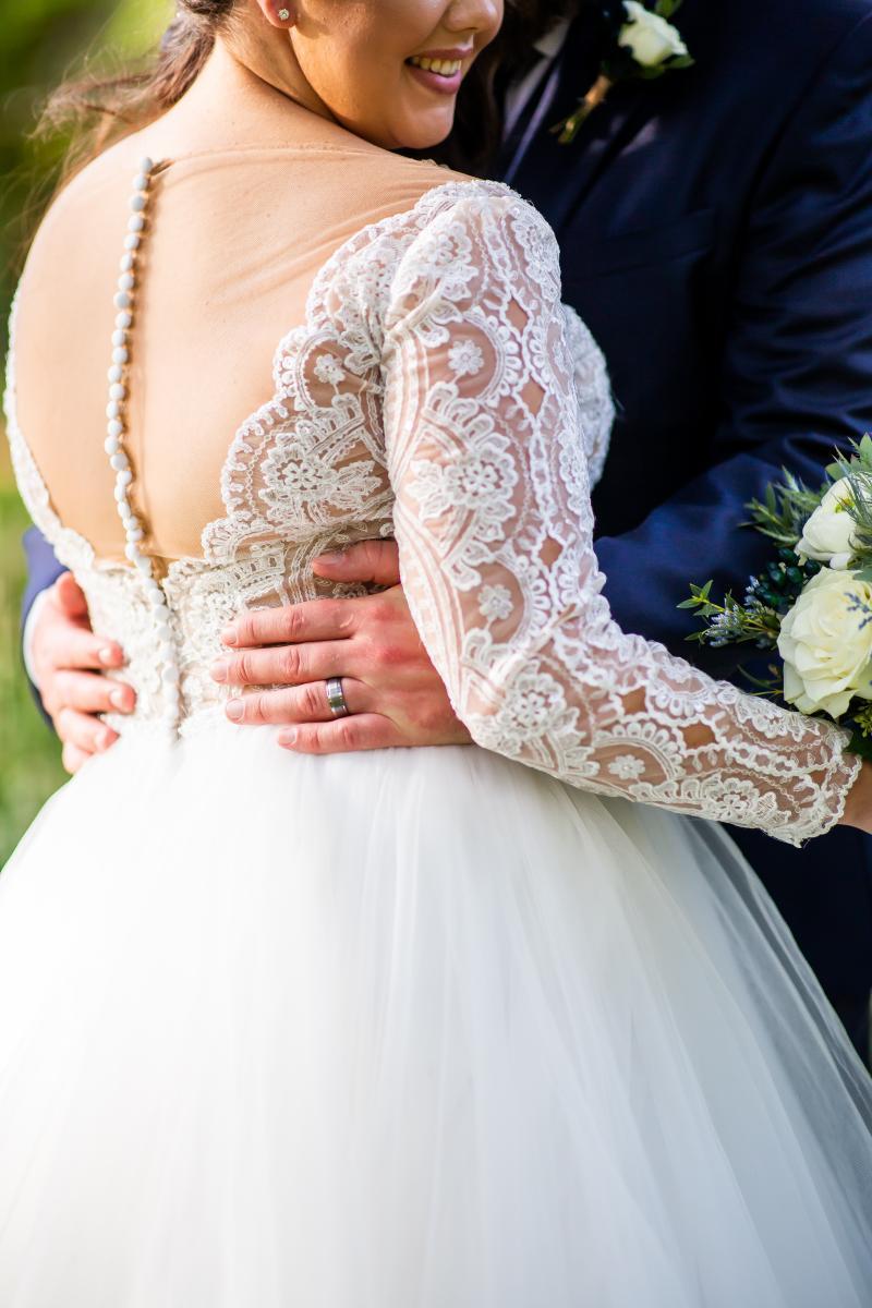 Hayley Paige wedding dress details