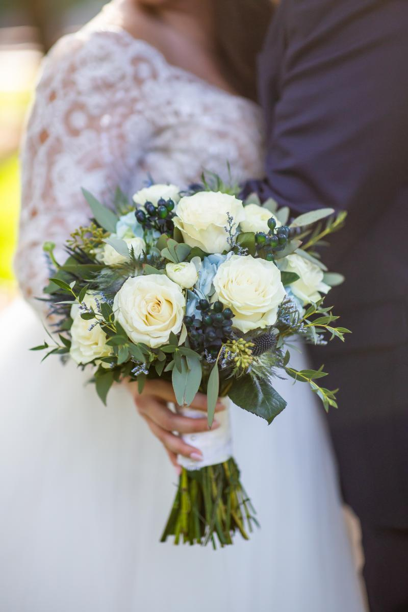 Taylor's bridal bouquet