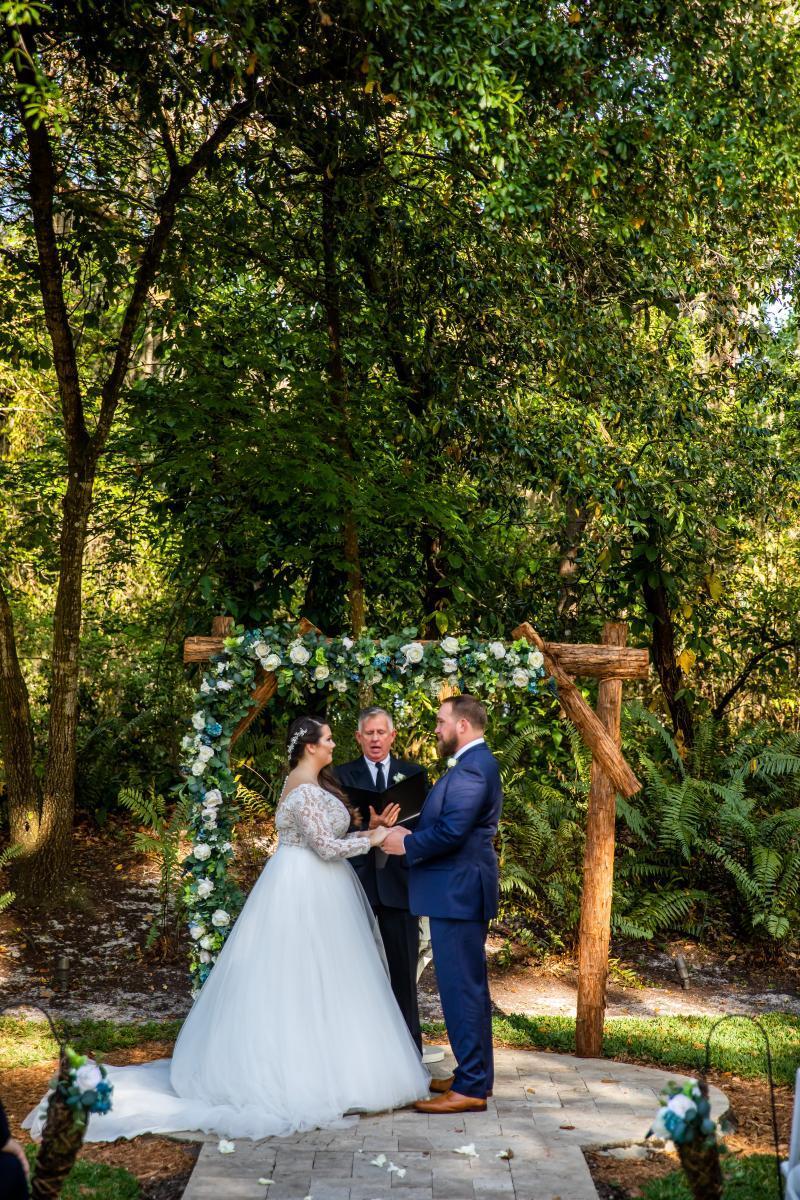 Rustic luxe wedding ceremony decor