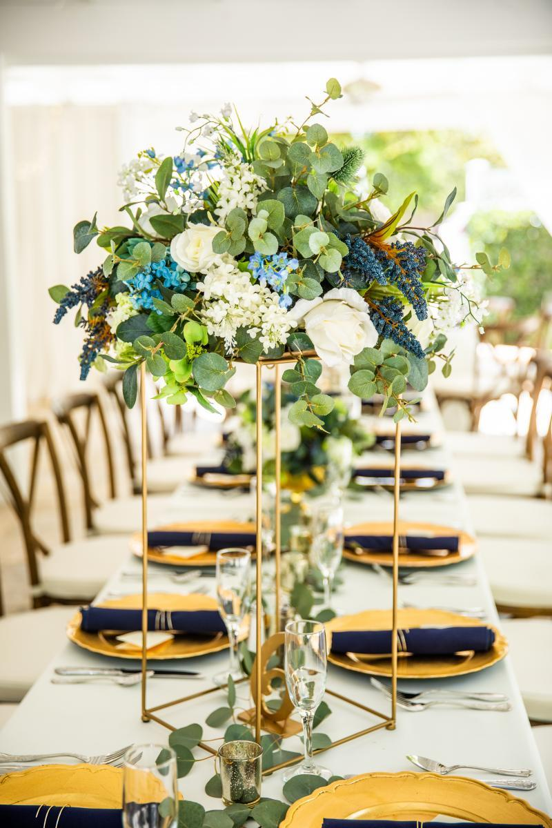Rustic luxe wedding reception decor