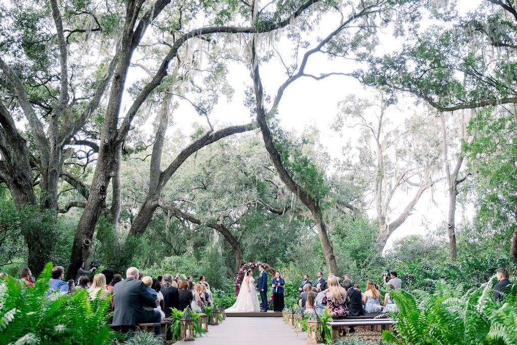 Mandy and Ken's elegant jewel tones wedding