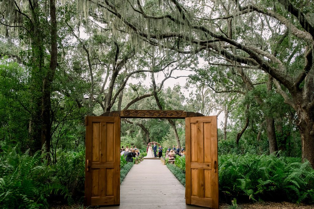 The doors at the Enchanted Forest