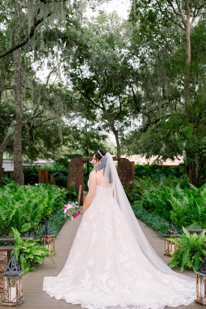 Mandy in her Allure Bridal wedding dress