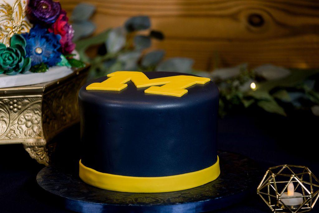 University of Michigan grooms cake
