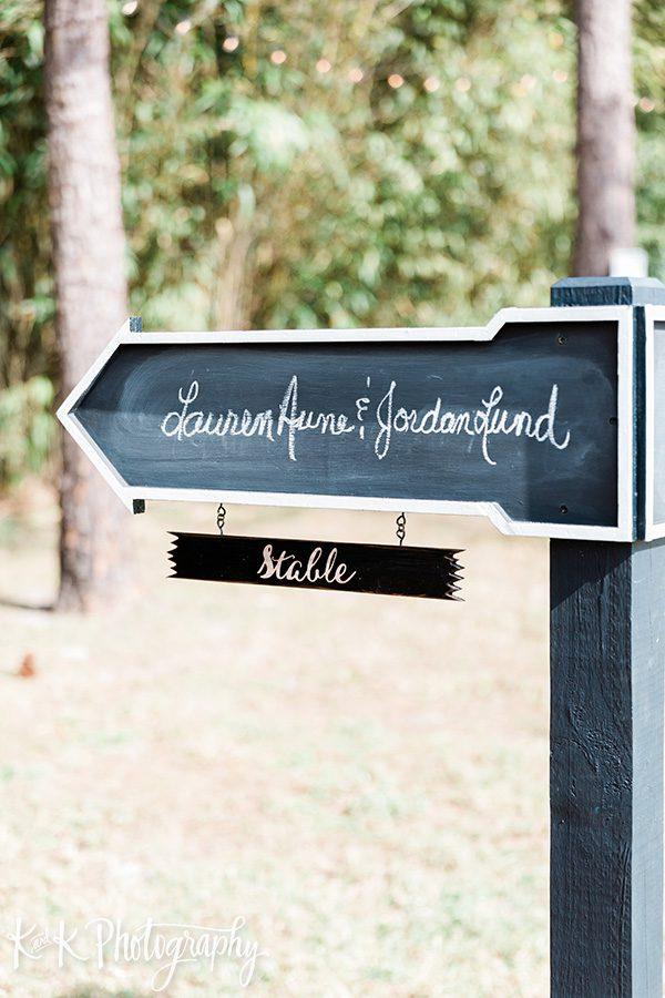 Lauren and Jordan's wedding sign