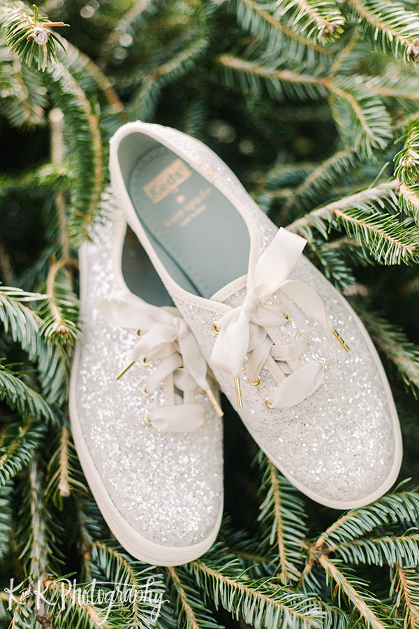 Sparkly Ked's bridal shoes