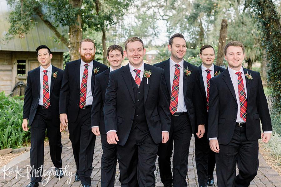 Jordan and his groomsmen