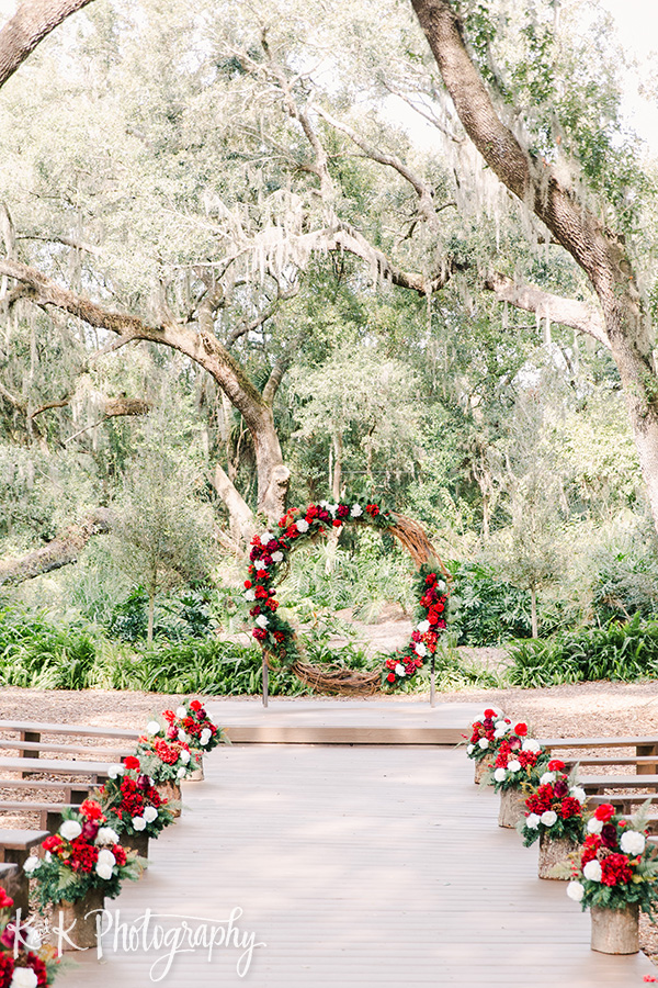 Christmas wedding ceremony decor and design at the Enchanted Forest